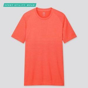 UNIQLO | Men's Dry-Ex SS Crew-Neck T-Shirt/Red/S
